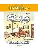 Krebs 2019: Sternzeichenkalender-Cartoonkalender als Wandkalender im Format 19 x 24 cm.