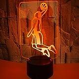 Kreative 3D Basketball Nacht Licht 7 Farben Andern Sich USB Adapter Touch Schalter Dekor Lampe Optische Täuschung Lampe LED Lampe Tisch Kinder Brithday Weihnachten Geschenke
