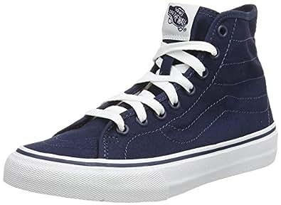 Vans - U Sk8-Hi Decon, Alte Scarpe Da Ginnastica, unisex, Blu (canvas dress blues/true white), 35