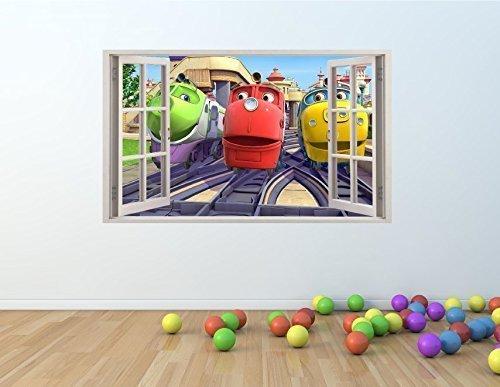 Image of CHUGGINGTON Trains Window Effect Vinyl Wall Art Sticker **GIANT SIZE** 100 x 60 cm - pw26