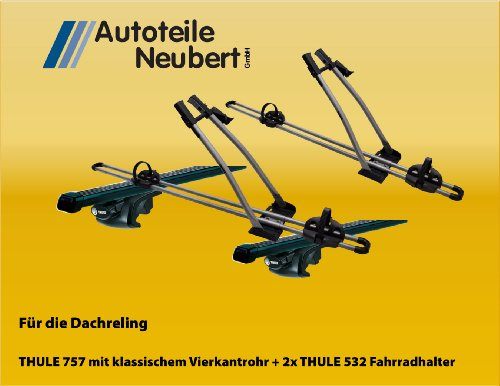 Preisvergleich Produktbild Set:THULE 757 + Vierkantrohr 761 + FreeRide 532 (2x)