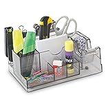Schreibtisch-Organizer Ablagesystem Dunkel-Transparent