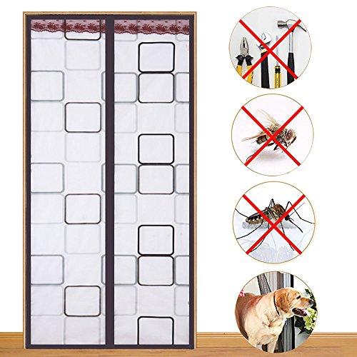 GUOSHIMAOYI Magnetische schirmtür,Freier stempel Eine klimaanlage vorhänge Moskitoabwehrmittel Transparent Kunststoff Anti-klimagerät Küche Rauch-lampe Magnet-bildschirm-A 95x210cm(37x83inch)