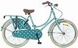 24 Zoll Popal Omafiets OM24 Mädchen Holland Fahrrad, Farbe:türkis