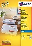 Avery J8159-100 Address Labels for Inkjet Printers (63.5 x 33.9 mm Labels, 24 Labels per A4 Sheet, 100 Sheets)