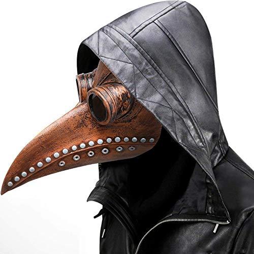 Doctor Maske - Lange Nase Vogel Schnabel Steampunk Halloween Kostüm Requisiten Maske perfekt für Fasching, Karneval & Halloween - für Erwachsene (Teufel Kostüm Steam)