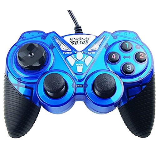 Preisvergleich Produktbild OOFAY Game Controller Gaming Joystick USB Gamepad Für PC Laptop Vibration Gamepads Für Fenster 7 & 10, Blue