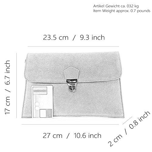 modamoda de -. ital Borsa scamosciata frizione borsa borsa borsa da sera Città T206 Camel