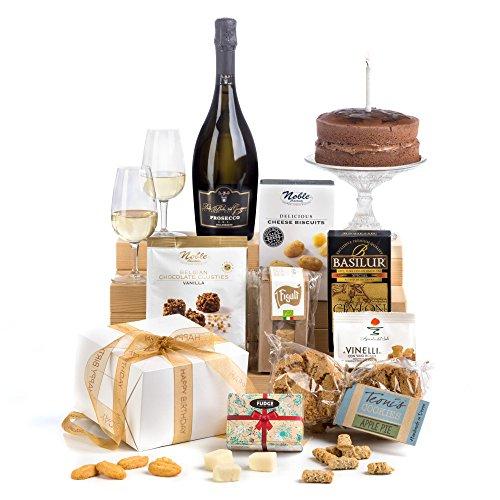 Hay Hampers Luxury Birthday Food and Wine Hamper - FREE UK Delivery