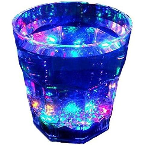 LQK-Birra light flash colorato di acqua sensore versare novità regalo creativo bagliore tazze , (Acqua Gnome)