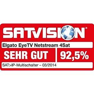 elgato eyetv netstream 4sat dvb s2 network tuner with hardware transcoding silver. Black Bedroom Furniture Sets. Home Design Ideas