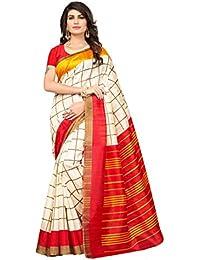 Oomph! Sarees For Women Latest Design Party Wear - Bhagalpuri Silk - Buttermilk Beige