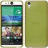 PhoneNatic Case kompatibel mit HTC Desire Eye - pastellgrün Silikon Hülle Brushed + 2 Schutzfolien