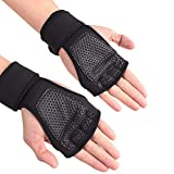 Ogquaton Fitnesshandschuhe Gewichtheben Armbänder Kurzhantel Handschützer Sportgeräte L