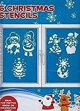 Navidad nieve spray plantillas (6unidades diseños de Papá Noel, árboles, muñeco de nieve)