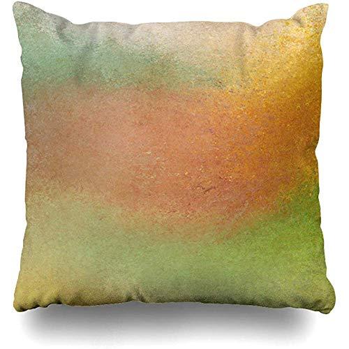 Wheyt federa per cuscino da tiro 40 x 40cm vecchia parete estate toni terrosi marrone spugnato grafica ruggine arancione verde sbiadito astratto trame pittura