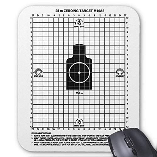 Retro Military Weapons M-16 Shooting Target Mouse Pad 18×22 cm