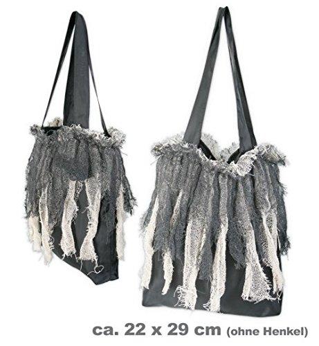 Halloween Zombie-Tasche Halloween-Tasche Beutel Henkeltasche Zombietasche ca 28x 32 cm