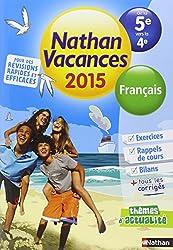 Cahier de vacances  - Français 5e - 4e