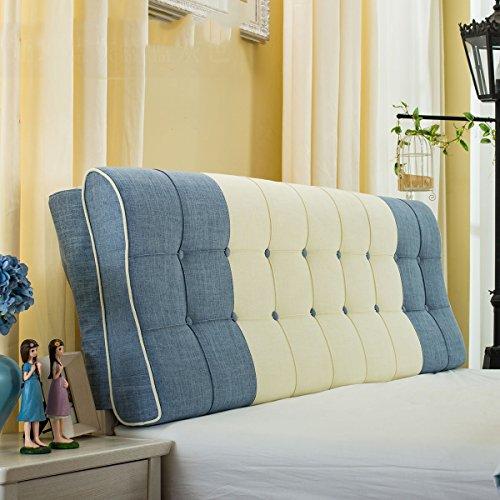 YOTA HOME Bedside Rückenlehne European Creative Kampf Farbe Flax Bedside Soft Case Kissen Taille Kissen Wand Rückenlehne für 1.2m Bett oder 1.5m Bett (Farbe : # 2, größe : 1.5m Bed) -