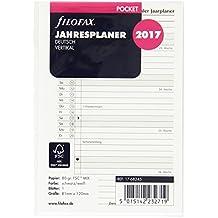 Filofax 17-68245 Pocket Jahresplaner vertikal, deutsch 2017 Kalendereinlage, weiß