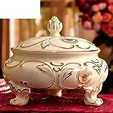 Retro ornamenti soggiorno decorazione fruttiera in ceramica European fruit su palafitte
