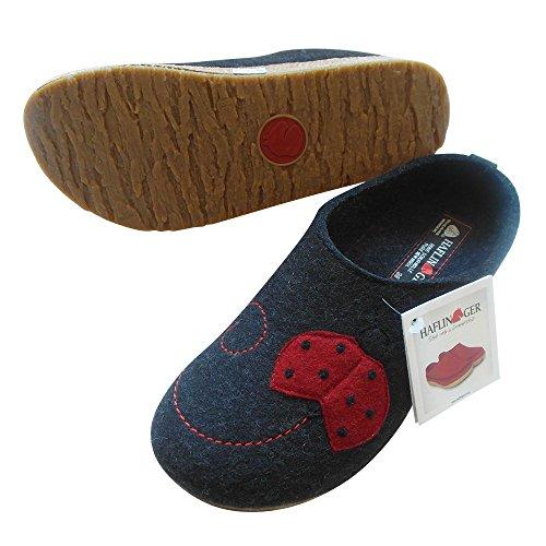 Haflinger Schuhe Damen Hausschuhe Pantoffeln Wollfilz Grizzly Nelly 731048 GRAPHIT
