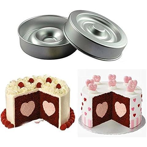 Bluelover Cuore Livello forma torta di pan stampo in alluminio Cake Pans 9Inch