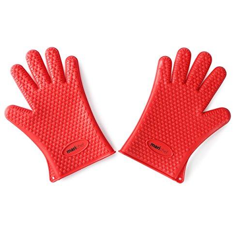 Mari Chef–par rojo guantes horno silicona resistente