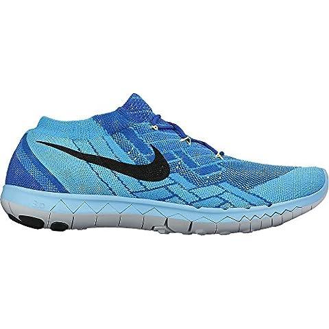 Nike Free 3.0 Flyknit dedo del pie redondo sintético negro running