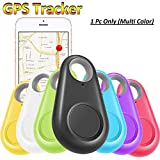 #7: Stylo Shope GPS Tracker Smart Key Finder Locator with Bluetooth for Kids Boys Girls Pets Keys Wallet Keychain Car Dog Cat Child Bag Phone Alarm Anti Lost Selfie Shutter Wireless Seeker Birthday For All Smartphone,All Tablets
