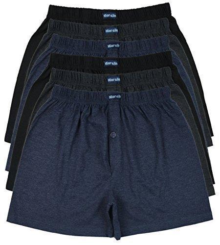 a30f5f8503 TOPANGEBOT 12 oder 6 Boxershorts farbig weich und locker in 3 neutralen  Farben Original MioRalini Unterhose