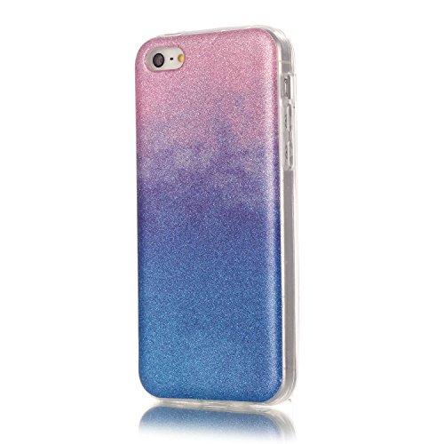 iPhone Case Cover cas iphone 5C, coloré modèle TPU étui souple cas de couverture de peau de silicone de caoutchouc pour iphone 5C ( Color : E , Size : Iphone 5C ) H