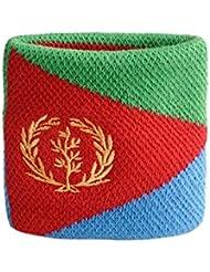 Schweißband Motiv Fahne / Flagge Eritrea + gratis Aufkleber, Flaggenfritze®
