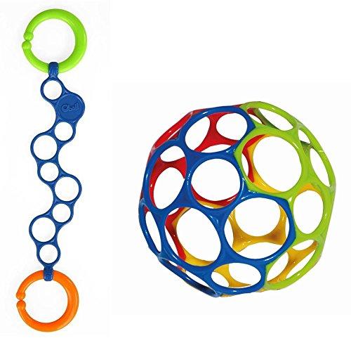 Oball Set Oball blau mit O-Link blau für Buben in blau rot grün