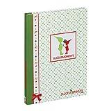 ebos Glücksbringer-Notizbuch | A5, 100 Seiten | Aufdruck Wichtel | gemustert