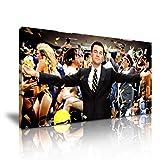 Wolf von Wall Street Leonardo DiCaprio Film Leinwand Kunstdruck Bild 82cm x 41cm