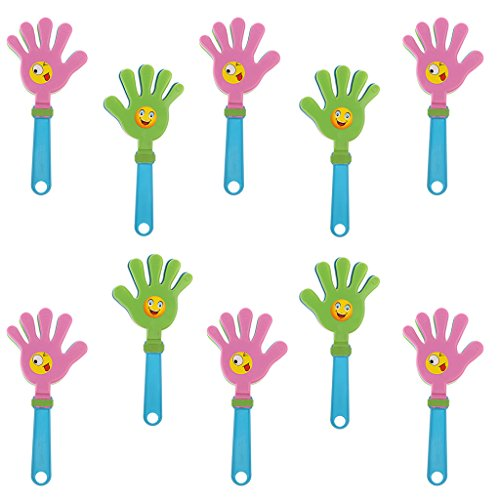 MagiDeal 10x Klapperhand Klatschhände aus Kunststoff Mitgebsel für Olympia, Halloween, Konzert, Party, SportSpiele usw. - 28x13x2cm