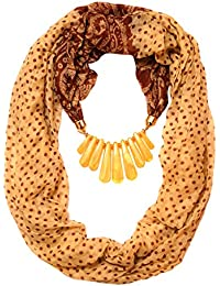 Scarf Necklace California Printed BEIGE Necklace Scarf Pendant Scarf Stole Muffler For Girls Women.Order Now
