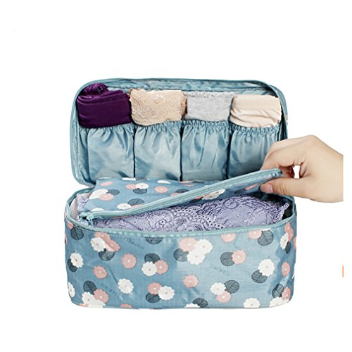 ODN Reisen Kosmetiktasche PortableVerfassungsbeutel Toiletbag Kulturtasche Veranstalter Necessaire (Blau)