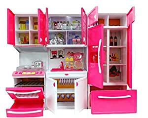 refrigerator toy. powerplay kitchen toy set, battery operated play set with refrigerator, accessories refrigerator