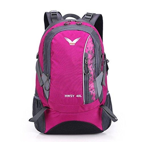 Mode Sport Bergsteigen Tasche Wasserdicht Nylon Reise Rucksack Purple