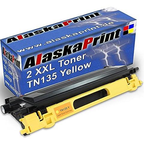 Alaskaprint Premium 2 kompatible Toner als Ersatz für Brother TN-135 TN-115 XL (Yellow) TN 135 TN135