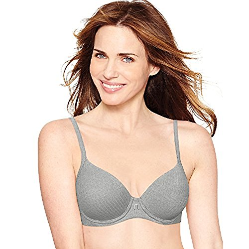 Hanes by Ultimate ComfortBlend T-Shirt Natural Lift Underwire Bra_Slvr Shdw ST Htr_38D