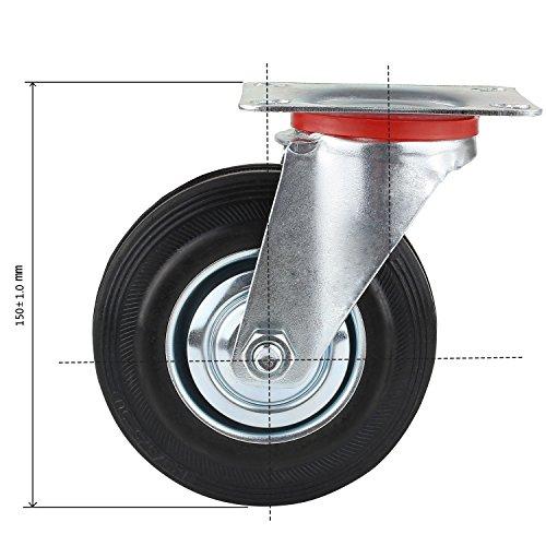 8 x 50mm Lenkrollen Möbelrollen Transportrollen Apparaterollen 40KG//Roll DEDHL