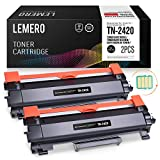 2 LEMERO Compatible Brother TN-2420 TN2420 TN-2410 [con Chip] Cartuchos de Toner para HL-L2310D...
