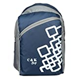 #6: Chris & Kate Polyester 26Litres Navy Blu School Backpack