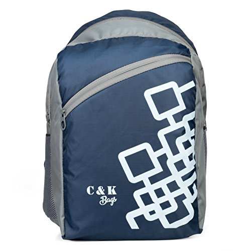 Chris & Kate Navy Blue Polyester School Bag (26 Litres)(CKB_103_SS)