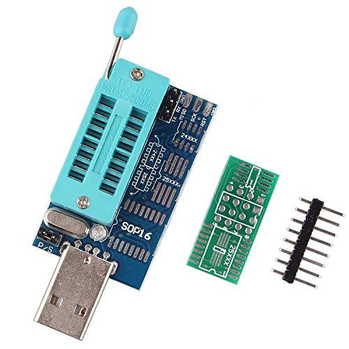 HAPPY-DZ Multifunción práctico CH341A 24 25 Junta de BIOS Flash EEPROM  Serie Router LCD DVD Burner Programador USB