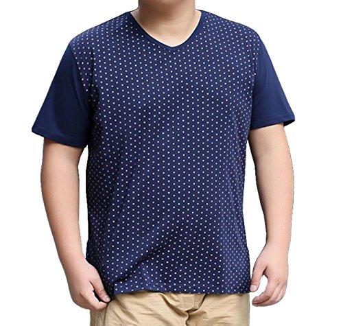 Sommer Männer Losen T-Shirts Einfach Elegant Groß Lässig Kurzhülse Kurze Ärmel Blue
